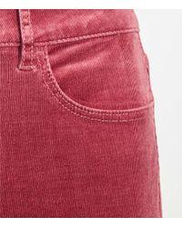 LOFT Red Skinny Corduroy Pants