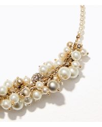 LOFT - Metallic Pearlized Bauble Necklace - Lyst