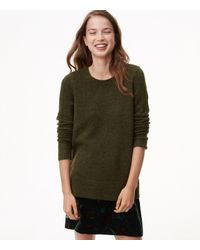 LOFT | Green Relaxed Pointelle Sweater | Lyst