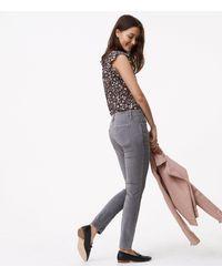 LOFT Gray Petite Modern Skinny Washed Velvet Pants