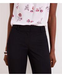 LOFT Black Trousers In Custom Stretch In Marisa Fit