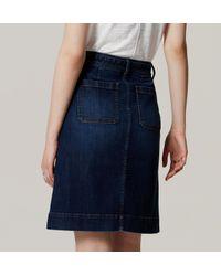 LOFT - Blue Tie Waist Denim Skirt - Lyst