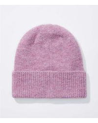 LOFT Purple Heathered Hat