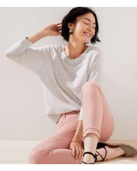 LOFT Multicolor Dolman Sweater