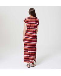 LOFT - Red Beach Striped Tee Maxi Dress - Lyst