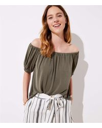 LOFT - Multicolor Sandwashed Short Sleeve Top - Lyst