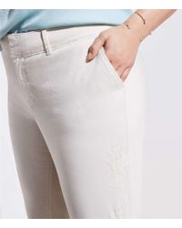 LOFT - Multicolor Plus Floral Embroidered Girlfriend Chinos - Lyst
