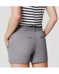 "LOFT - Gray Riviera Shorts With 4"" Inseam - Lyst"