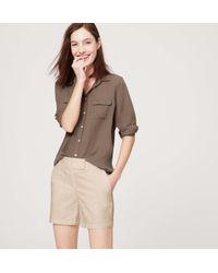 """LOFT - Brown Riviera Shorts With 6"""" Inseam - Lyst"""