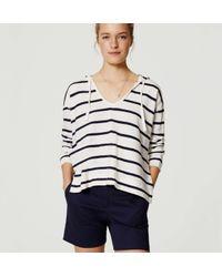 "LOFT - Blue Riviera Shorts With 6"" Inseam - Lyst"