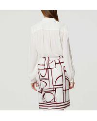 LOFT - White Petite Modernist Wrap Skirt - Lyst