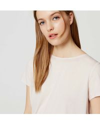 LOFT - Multicolor Petite Shirred Back Tee - Lyst