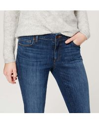 LOFT - Blue Tall Curvy Skinny Jeans In Mid Indigo Wash - Lyst