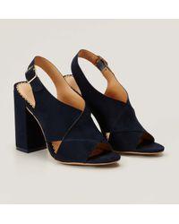 LOFT - Blue Cross Strap Heels - Lyst