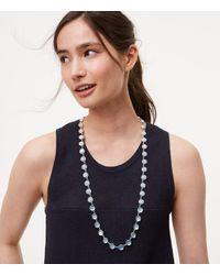 LOFT - Metallic Ombre Stone Necklace - Lyst