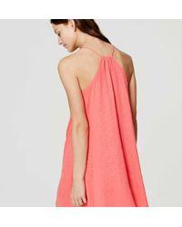 LOFT - Pink Beach Racerback Dress - Lyst