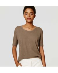 LOFT - Green Relaxed Short Sleeve Top - Lyst