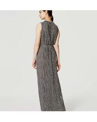 LOFT - Black Mosaic Stripe Maxi Dress - Lyst