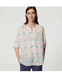 LOFT - White Petite Desert Henley Softened Shirt - Lyst