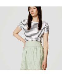 LOFT - Green Petite Geo Eyelet Skirt - Lyst