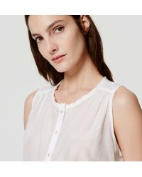 LOFT - White Petite Sleeveless Button Down Tunic - Lyst
