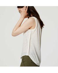 LOFT - Natural Ikat Mixed Media Crochet Shell - Lyst