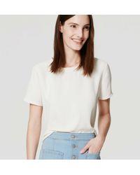 LOFT - White Shirttail Top - Lyst