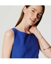 LOFT - Blue Petite Ottoman Flare Dress - Lyst
