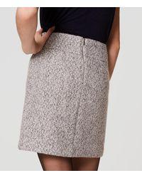 LOFT - Black Tweed Pocket Skirt - Lyst
