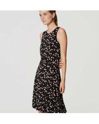 LOFT - Black Cherry Flare Dress - Lyst