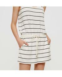 LOFT - Multicolor Lou & Grey Striped Bare Romper - Lyst