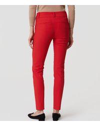 LOFT - Red Petite Essential Skinny Ankle Pants In Marisa Fit - Lyst