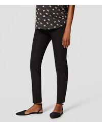 LOFT | Black Maternity Essential Skinny Ankle Pants | Lyst