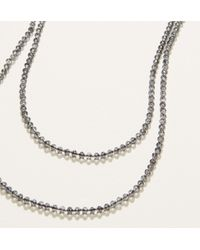 LOFT - Metallic Extra Long Beaded Necklace - Lyst