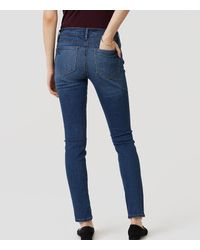 LOFT Blue Modern Skinny Jeans In Classic Mid Vintage Wash