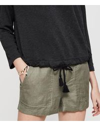 LOFT - Gray Lou & Grey Signaturesoft Drawstring Top - Lyst