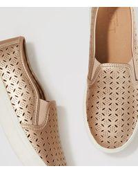 LOFT - Metallic Perforated Slip-on Sneakers - Lyst