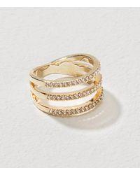 LOFT Metallic Pave Stacked Ring