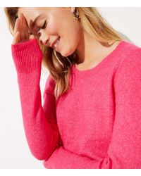 LOFT Pink Crossover Bar Back Sweater