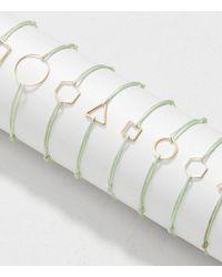 LOFT - Green Hannah Emile Large Diamond Perennial Bracelet - Lyst