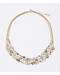 LOFT Metallic Multistrand Stone Necklace