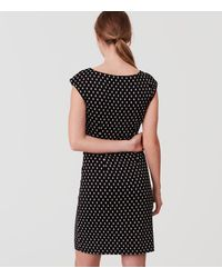 LOFT Black Diamond Side Shirred Dress