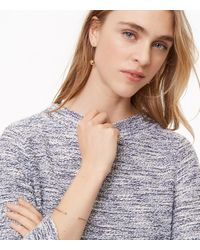 LOFT - Blue Shimmer Boucle Top - Lyst