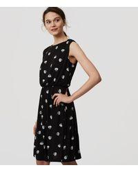 LOFT Black Petite Lotus Tie Back Dress