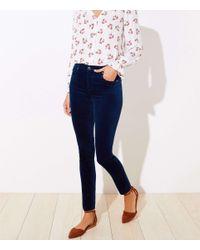 LOFT Blue Velvet Skinny Pants