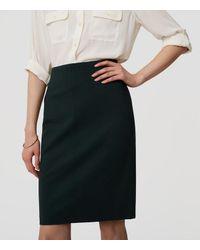 LOFT Multicolor Pull On Pencil Skirt