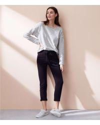 LOFT Black Lou & Grey Signaturesoft Plush Upstate Sweatpants