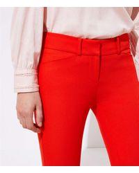 LOFT Red Petite Skinny Ankle Pants In Marisa Fit