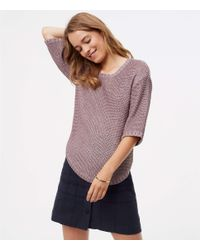 LOFT - Multicolor Relaxed Shirttail Sweater - Lyst