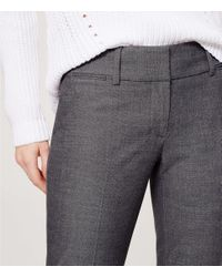 "LOFT - Gray Trousers In Marisa Fit With 31"" Inseam - Lyst"